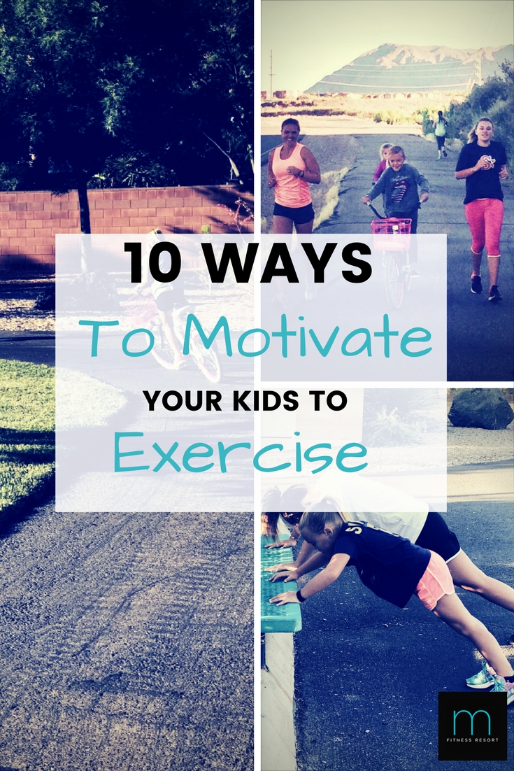 10 Ways to Motivate Your Kids to Exercise! How to build a healthy family lifestyle that your kids will enjoy. Setting up your kids for healthy lifelong habits!