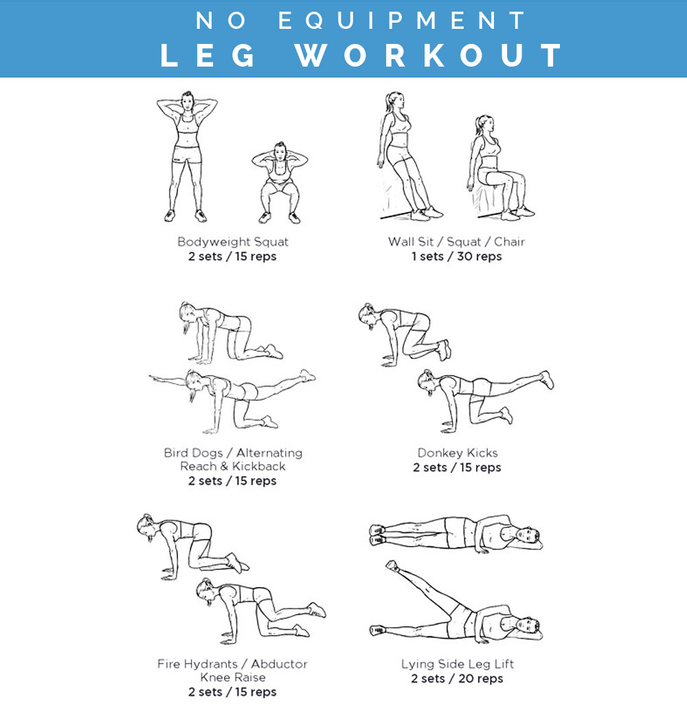 Legs Workout At Home Without Weights | Kayaworkout.co
